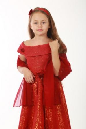 Платье красное с люрексом Ника