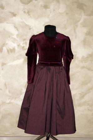 Платье бордовое Неля