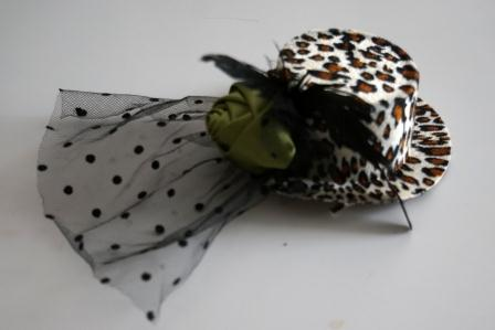Шляпка Гламур леопардовая