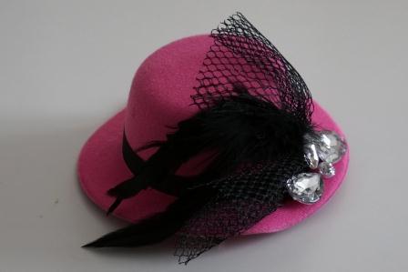 Шляпка Гламур розовая