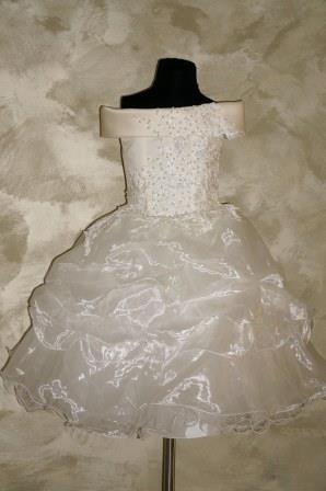 Платье кремовое с жемчугом