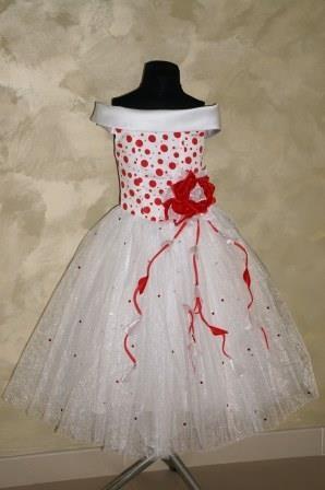 Платье Стиляга белое с красным