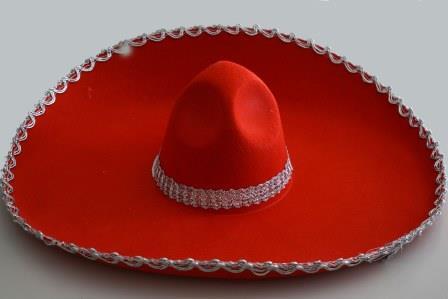 Шляпа мексиканца красная