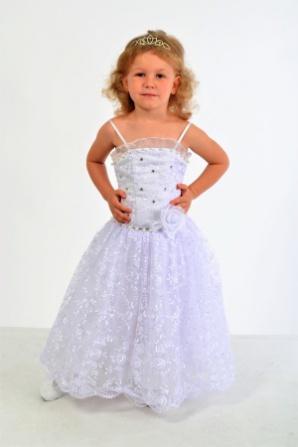 Платье белое гипюровое на бретелях