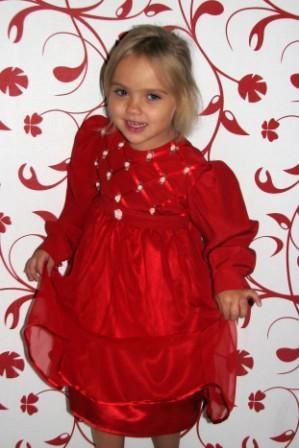 Платье красное шифон