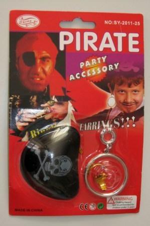 Набор пирата ( бандана, повязка на глаз, серьга)