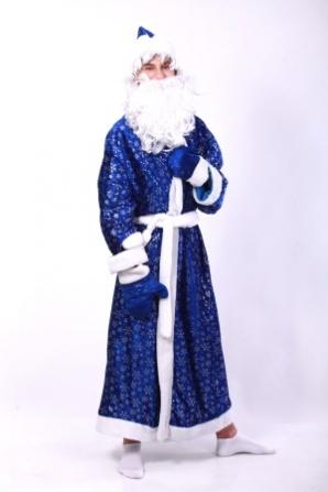 Дед Мороз синий со снежинками