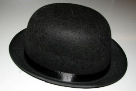 Шляпа - котелок фетровая