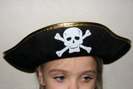 """Треуголка фетровая """"Пират"""""""