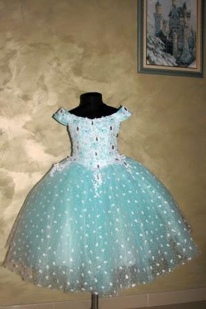Платье бирюзовое со стразами