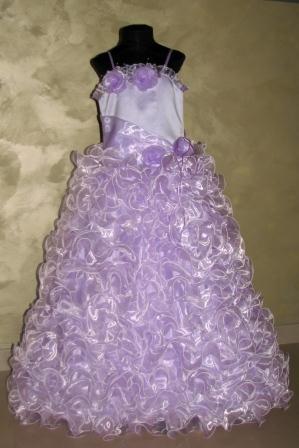 Платье сиреневое длинное