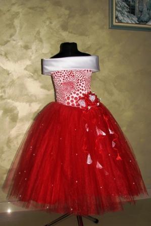 Платье бело-красное Стиляга