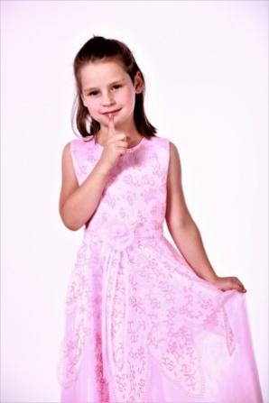 Платье розовое без рукава