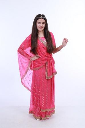 Индийский сари розовый