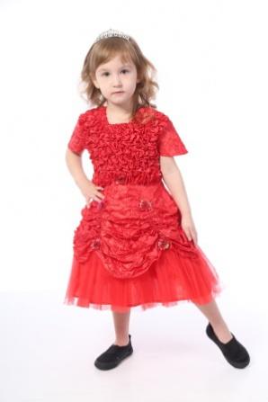 Платье красное Калинка